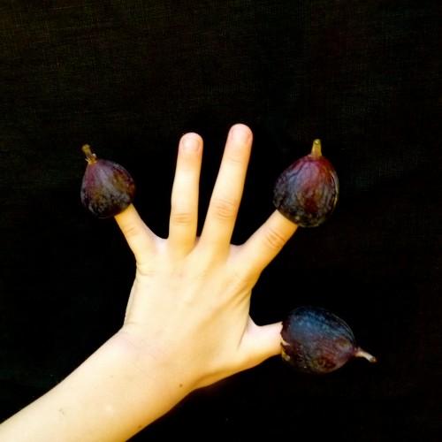 figs on fingers