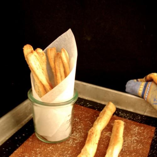 truffled straws: truffle oil breadsticks