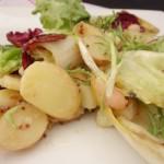 potato and wilted escarole salad