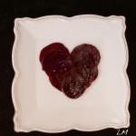 Valentine beet carpaccio- February 5th, 2013