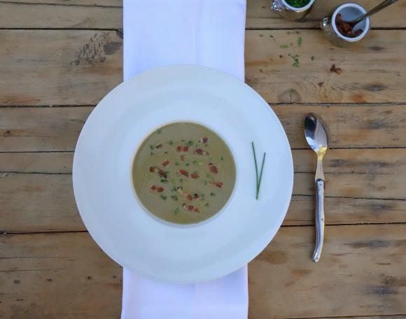 chef morgan lentil and Brie soup