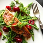 rouget with wild asparagus and cherries  - June 21st, 2013