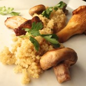 quinoa risotto with mushrooms October 18th, 2013