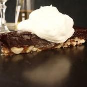 my nutty, chocolaty (gluten free) tart with brandied cream November 21st, 2013
