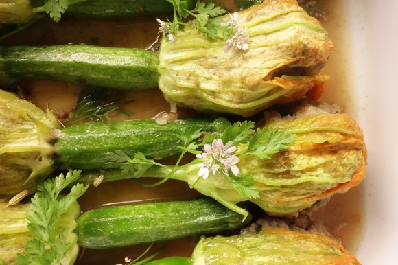 chef morgan zucchini blossoms